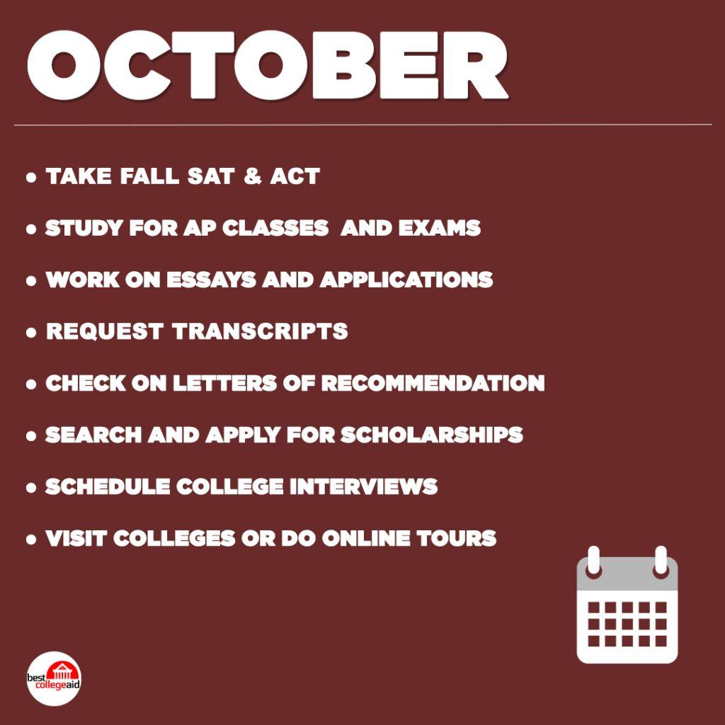 Senior Year Checklist October Best College Aid