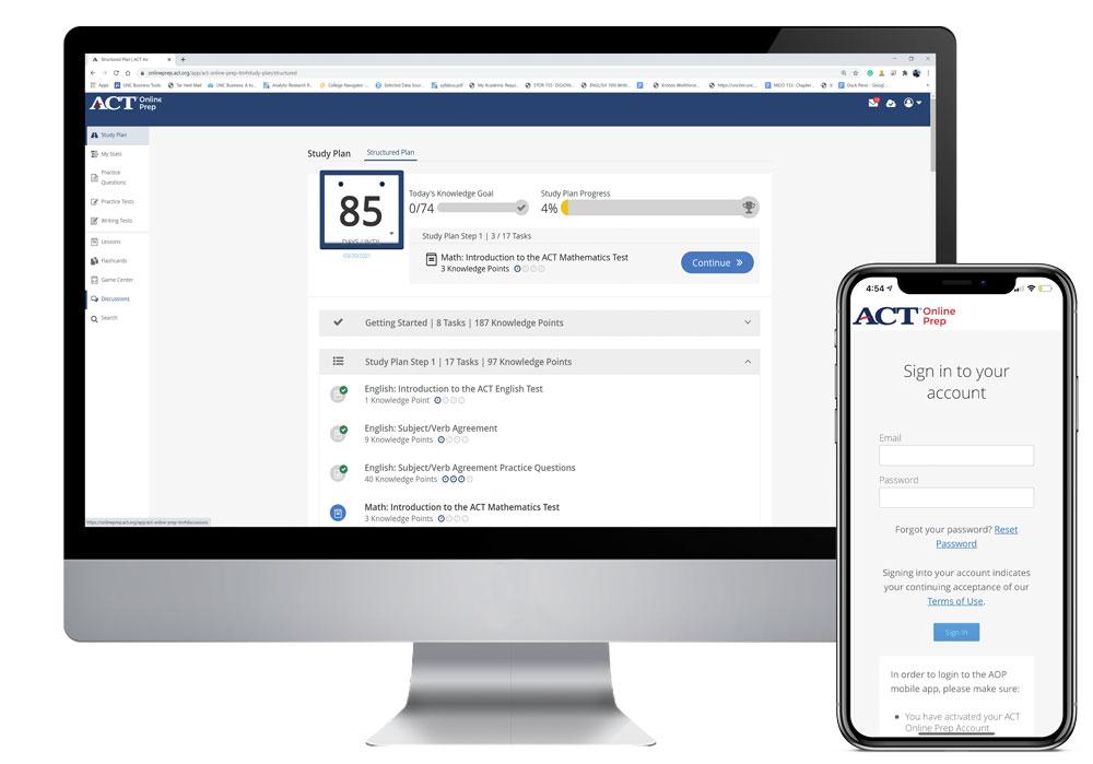 ACT Online Prep Account