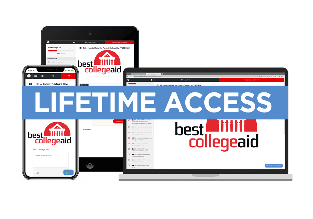 Best College Aid Lifetime Access