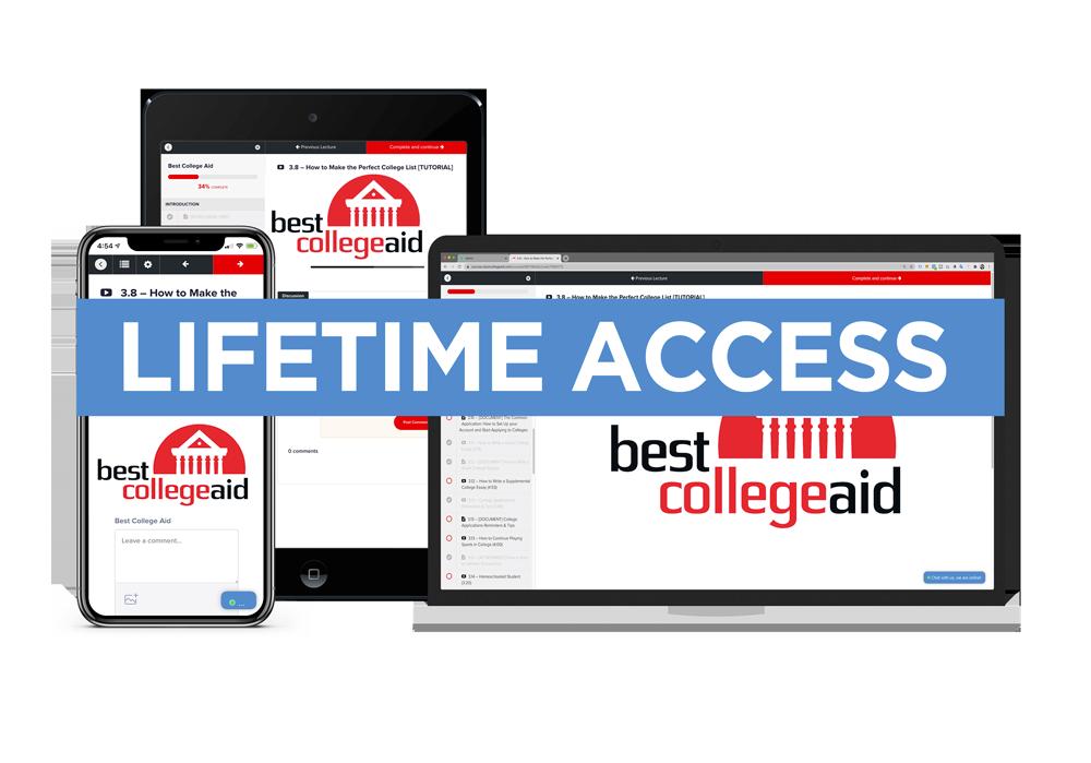 Best College Aid Lifetime Access