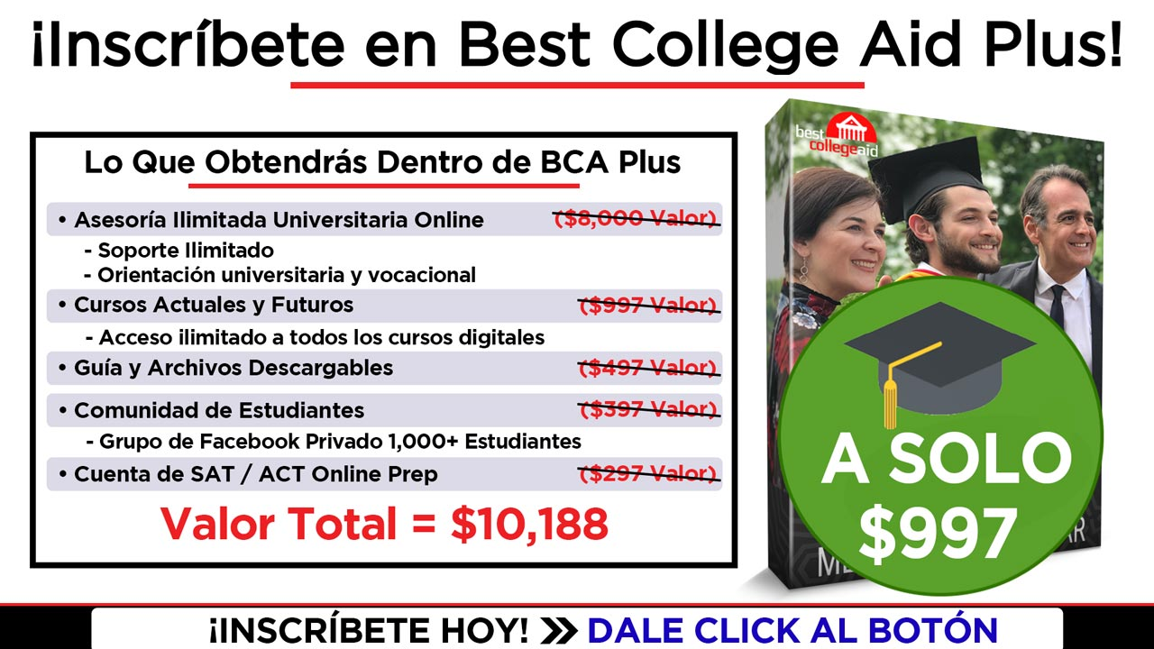 Enroll in Best College Aid Plus